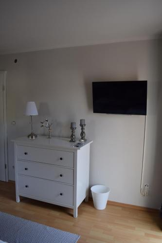 A television and/or entertainment center at Gästehaus Voyage