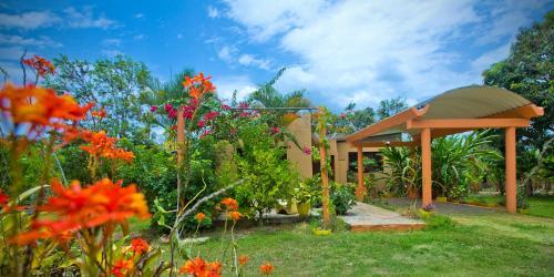 Jardín al aire libre en Casa Villa Anacahuita