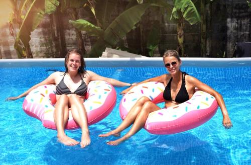 The swimming pool at or near Here Hostel Bangkok
