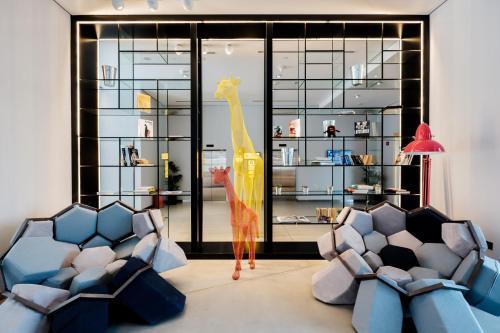 A seating area at Hampton by Hilton Dubai Al Seef