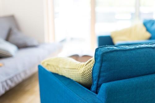 Ein Bett oder Betten in einem Zimmer der Unterkunft Ferienwohnung Busch