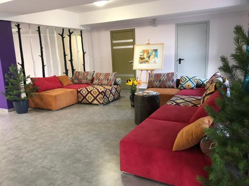 Гостиная зона в Отель Никола