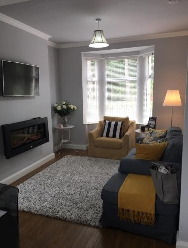 A seating area at Grange House