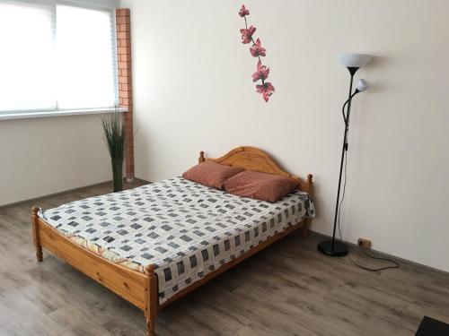 Кровать или кровати в номере Гостевой дом на Агатовой
