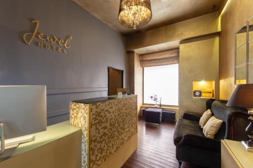 A seating area at Design Hotel Jewel Prague