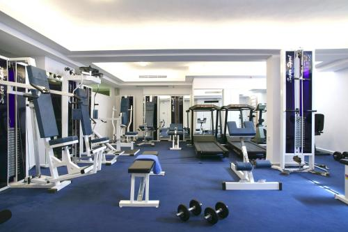 The fitness center and/or fitness facilities at Naxos Resort Beach Hotel