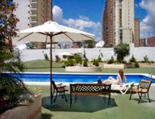 The swimming pool at or close to Domo Levante