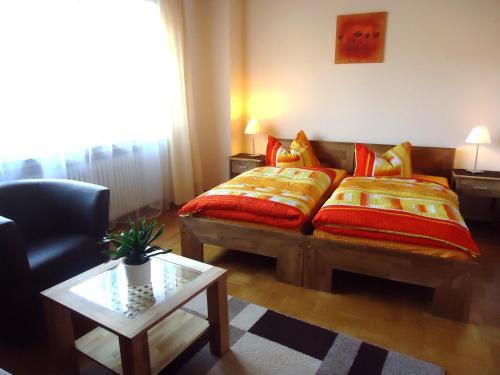 Ein Bett oder Betten in einem Zimmer der Unterkunft Landgasthof Unger