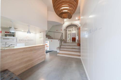 The lobby or reception area at Porta da Arrábida Suites