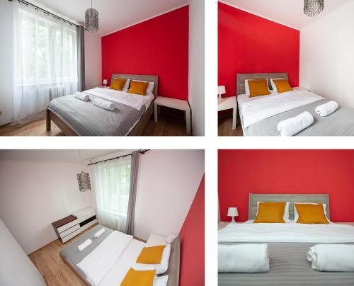 Łóżko lub łóżka w pokoju w obiekcie Steel