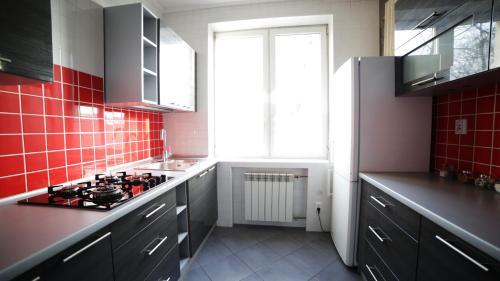 Kuchnia lub aneks kuchenny w obiekcie Steel