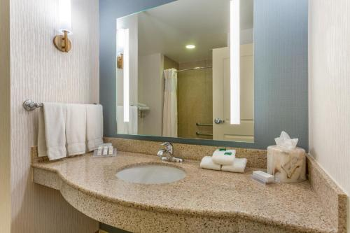A bathroom at Hilton Garden Inn Indianapolis Downtown
