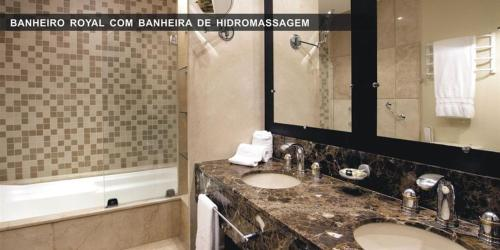 A bathroom at FLAT PRESTIGE SERRA RS 5*