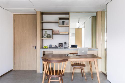 A kitchen or kitchenette at Hotel Stage