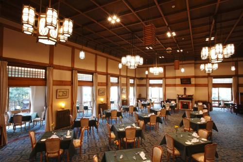 A restaurant or other place to eat at Nara Hotel