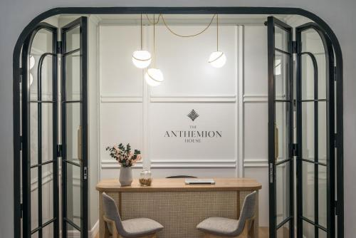 A bathroom at The Anthemion House