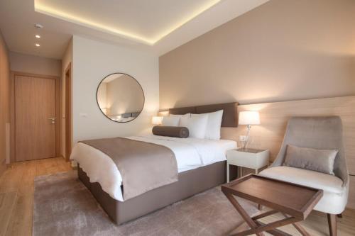 Кровать или кровати в номере Hotel Villa Gracia