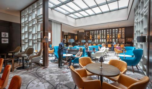 The lounge or bar area at Clayton Hotel Dublin Airport