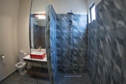 Salle de bains dans l'établissement Casa Florida Hotel & Spa
