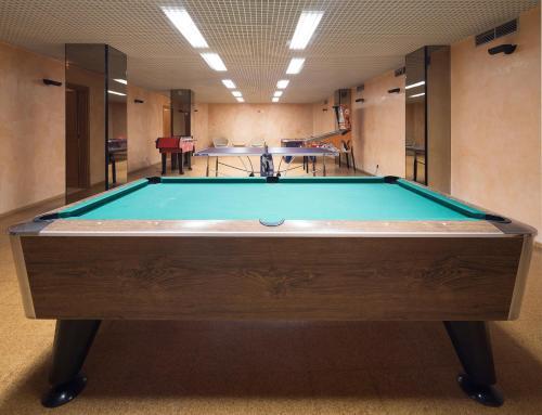 A pool table at Dom Pedro Marina