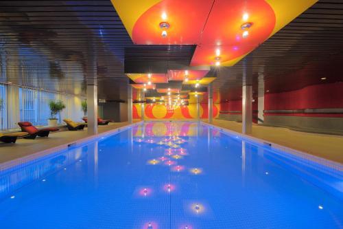 The swimming pool at or near Radisson Blu, Basel