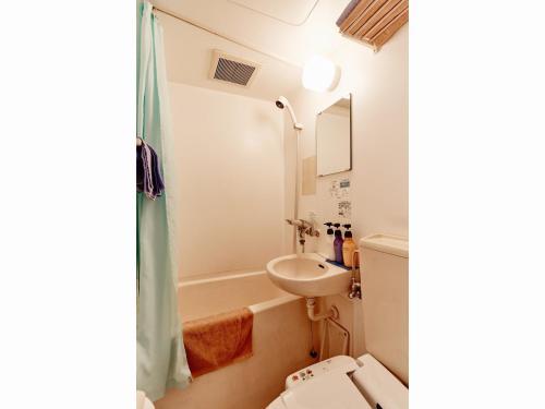 A bathroom at Hotel Business Villa Omori