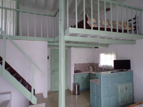 Ett kök eller pentry på Villa Pappas