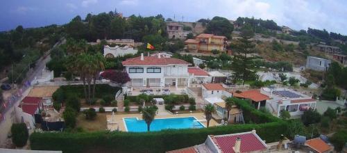 A bird's-eye view of Villa Teresa