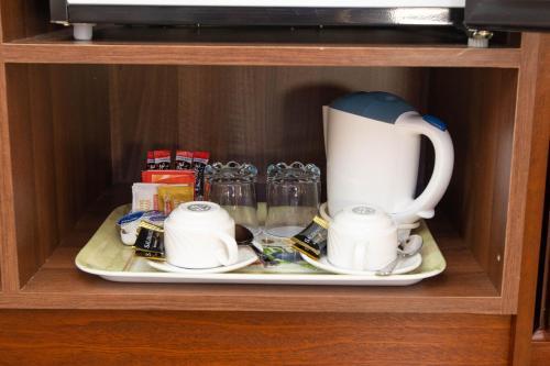 Coffee and tea-making facilities at The Tides B&B