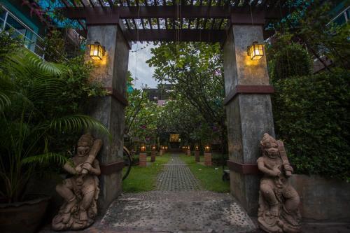 A garden outside Hua Hin White Sand