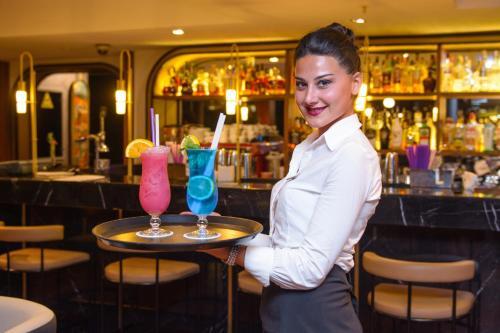 The lounge or bar area at Tiflis Palace