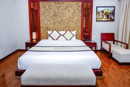 Giường trong phòng chung tại Vietsovpetro Resort