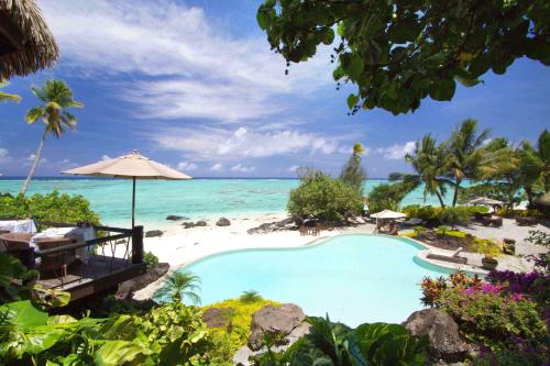 A view of the pool at Pacific Resort Aitutaki or nearby