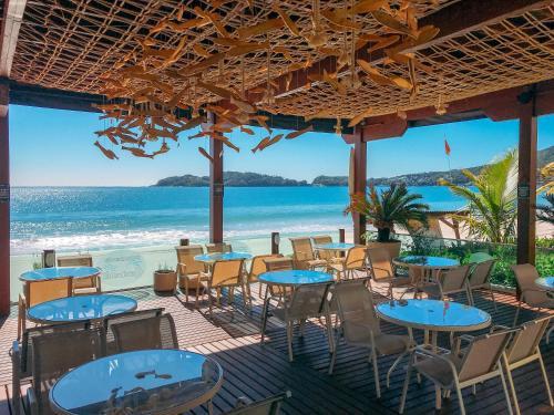 Um restaurante ou outro lugar para comer em Pousada Gaúcha
