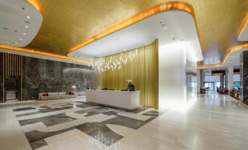 The lobby or reception area at Makedonia Palace