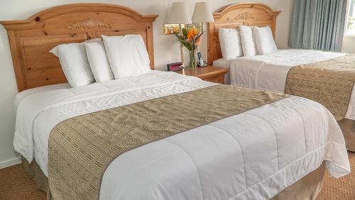 Ein Bett oder Betten in einem Zimmer der Unterkunft San Simeon Lodge