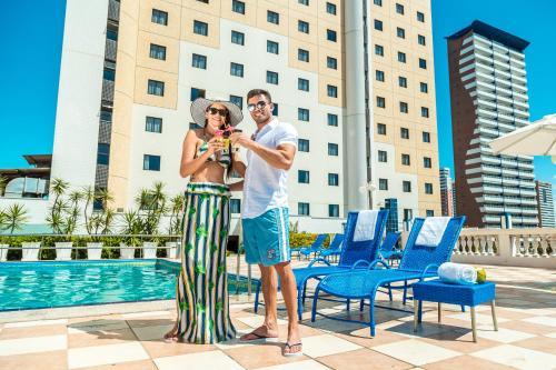 The swimming pool at or close to Hotel Sonata de Iracema