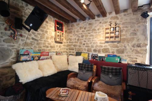 A seating area at La Cage aux Oiseaux