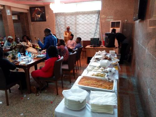 A restaurant or other place to eat at Trophy Hotel Kaduna