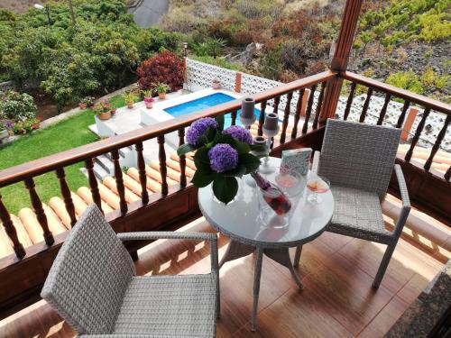 A balcony or terrace at Casa Hoya Limpia
