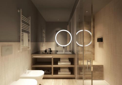 A bathroom at Ròseo Euroterme Wellness Resort