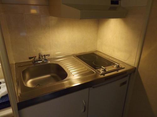 A kitchen or kitchenette at Windjammer Lodge