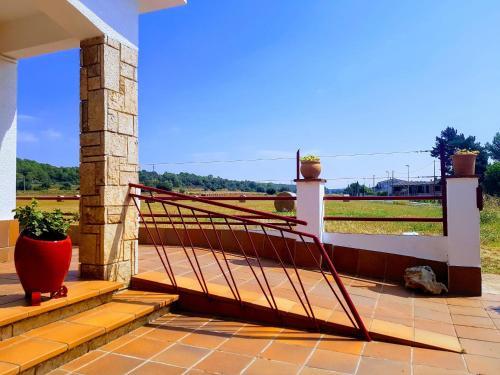 Un balcón o terraza de Can Sidru