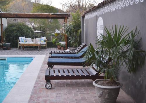 The swimming pool at or near Posada Del Angel