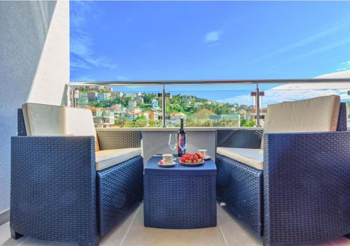A balcony or terrace at Sweetime Apartment in Podstrana