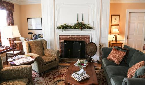 A seating area at Compass Rose Inn