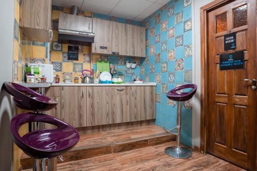 Кухня или мини-кухня в Хостел Кислород O2