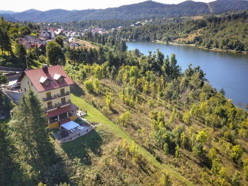 A bird's-eye view of Villa MOYA