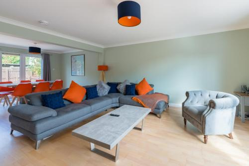 A seating area at 4 Kinnessburn Cottages
