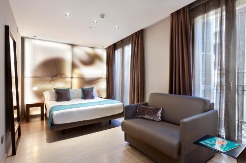 Zona d'estar a Hotel España Ramblas